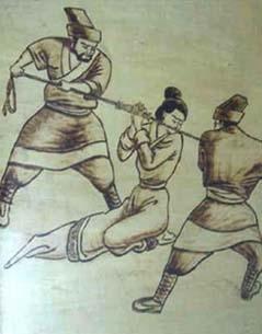 拶刑 古代对女犯施用的一种酷刑.拶是夹犯人手指头的刑罚,故又图片
