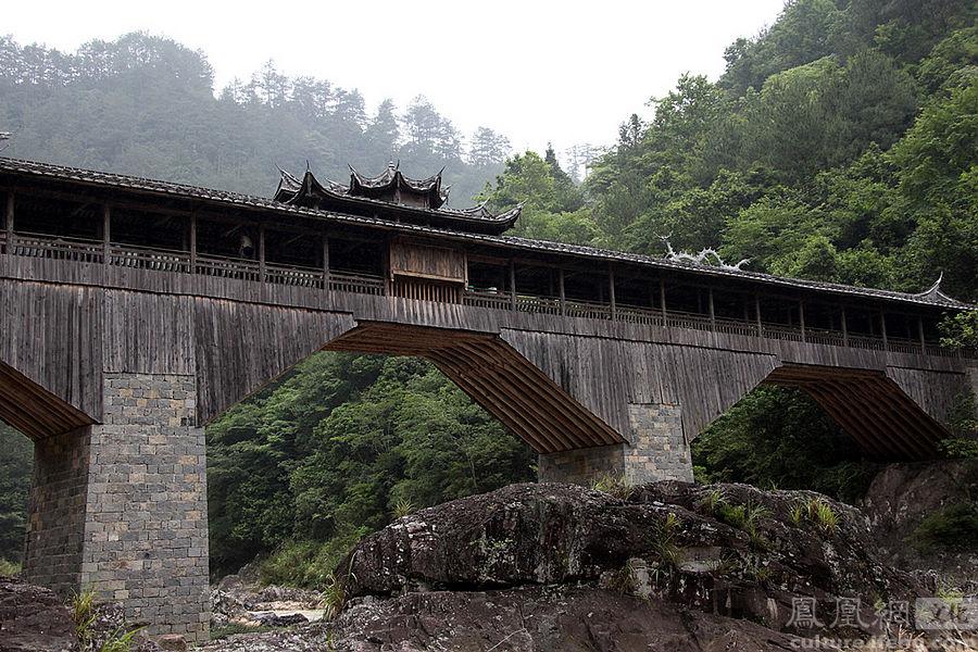 6月13日参观屏南白水洋风景区和新建木拱廊桥