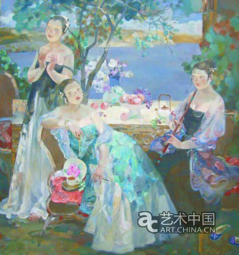 2007-2009年作品《新唐人画》系列于798——巅峰画廊收藏.