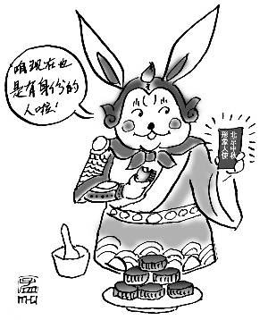侧着头兔子头步骤简笔画