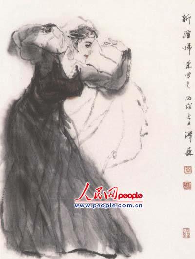 国画家黄泽森舞蹈人物作品欣赏图片