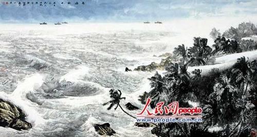 心迹海洋 许坤涛中国画欣赏
