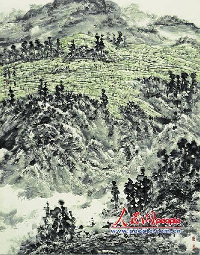 早春二月      柏树山   翻阅着朋友送来的郑天欣写意山水写生画