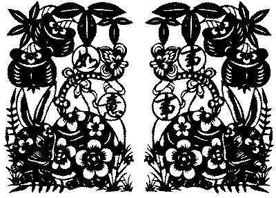 凤凰窗花的剪法步骤图