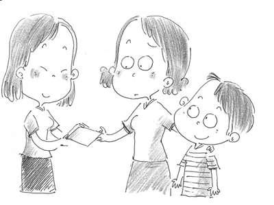 漂亮阿姨简笔画手绘